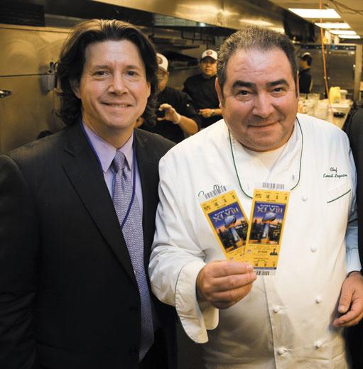 Herb Karlitz and Chef Emeril Lagasse @ Superbowl