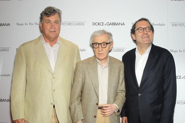 New York Premiere of Magic in the Moonlight: Tom Bernard (Co-Pres SPC), Woody Allen and Michael Barker (Co-Pres SPC) ©StarPix