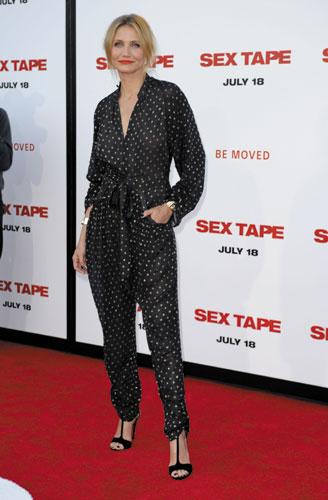 """Cameron Diaz @ Sex Tape Premiere Cameron Diaz """"I'm a spoiled brat """""""