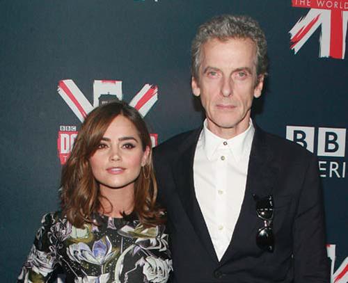 "BBC America's ""Doctor Who"" Fan Screening @ Ziegfeld Theater: Jenna Coleman and Peter Capaldi ©PatrickMcMullan.com"