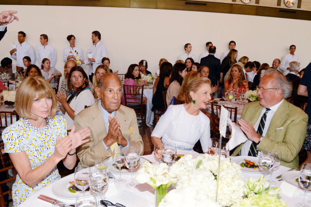 2014 Couture Council Award Luncheon: Anna Wintour, Oscar de la Renta, Carolina Herrera, Graydon Carter ©PatrickMcMullan.com