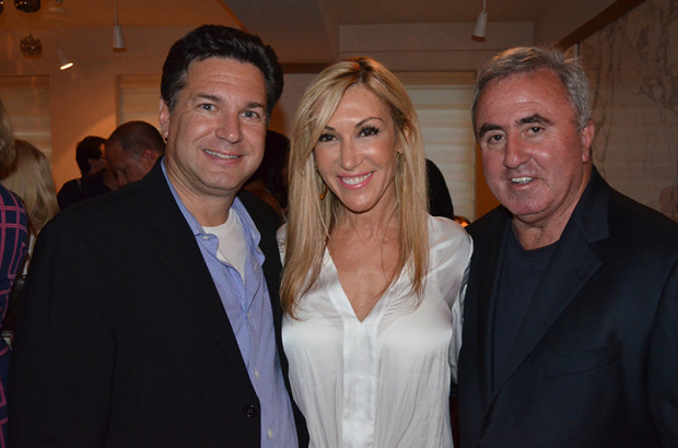 Resident Magazine Celebrates Tracy Anderson Cover At Villagio: Michael Travin, Joy Wayne, Mickey Sherman ©PatrickMcMullan.com