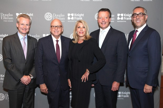 Paddy Dring, Howard Lorber, Dottie Herman, Lord Andrew Hay, Stephen Kotler. Douglas Elliman Real Estate & Knight Frank Residential Celebrate Global Wealth. Gotham Hall, NYC