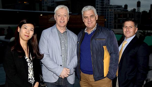 Pictured (L to R): Youngmi Ham (McCartan) Colum McCartan (McCartan) Nisan Lobel (Joy Construction) Chris Polito (Bank Leumi USA)