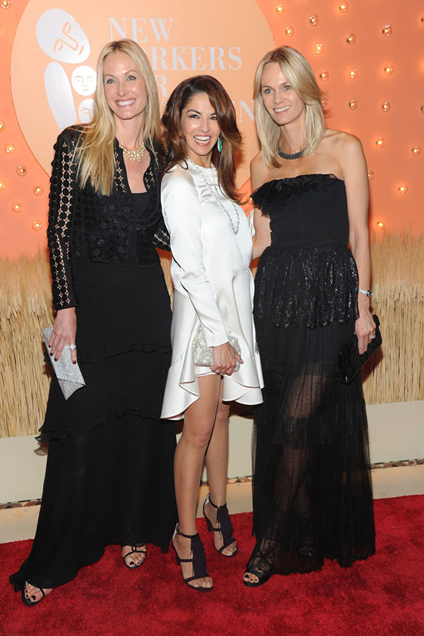 Co-Chairs Christine Mack, Dayssi Olarte de Kanavos and Lisa Evans The 15th Annual New Yorkers For Children Gala at Cipriani - newyorkersforchildren.org