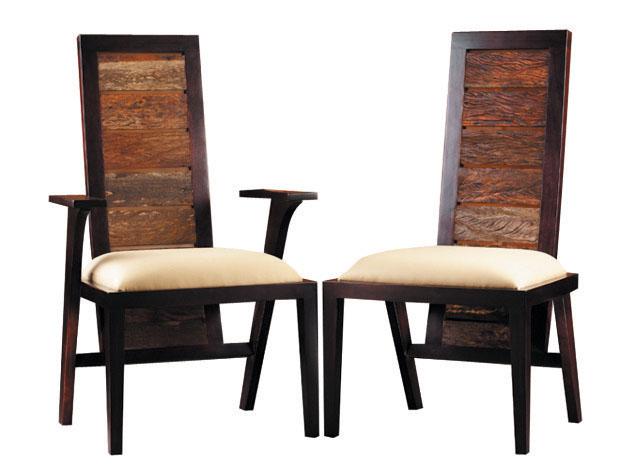 Ipanema Chairs Environment Furniture Brazilian peroba and mahogany $495-$595 environmentfurniture.com