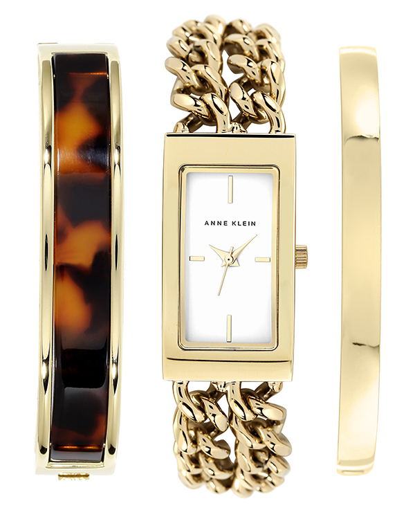 Easily accessorize your watch with Anne Klein's coordinated set. $150 macys.com
