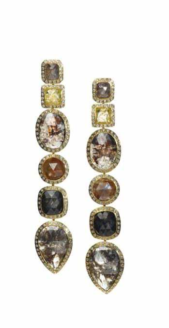 50 carats of dangling fancy colored diamonds are a stunning way to express your love. Greenwich Jewelers $59,400 greenwichjewelers.com