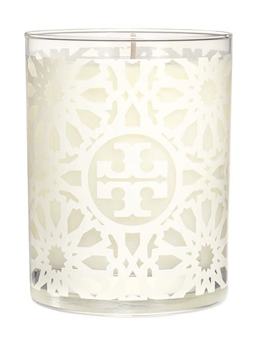 Tory Burch White Tile-Print Candle toryburch.com $60