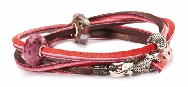 Trollbeads leather wrap bracelet Red/Bordeaux trollbeads.com $33