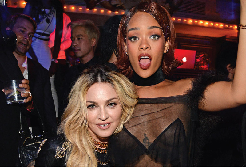 Rihanna's After Party At Up&Down Catered By Philippe: Rihanna and Madonna ©GETTY Images
