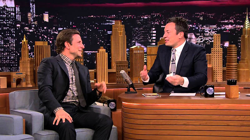 Jimmy Kimmel and Bradley Cooper, courtesy of NBC copy