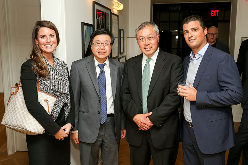 L to R - Katelyn Barrett - Union Bank/ Howard Hsu - TD Bank/ Roy Chin - TD Bank/ Victor Siguora - The Naftali Group