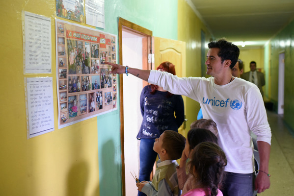 UNICEF Goodwill Ambassador Orlando Bloom