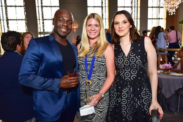 Bobby Attiko, ?, Rebecca Violante== Harriette Rose Katz Hosts The Second Anniversary of The Chosen Few== The Rainbow Room, NYC== July 11, 2016== ©Patrick McMullan== Photo - Sean Zanni/PMC== ==