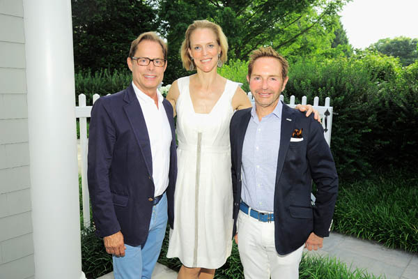 Kelly Greyhound, Louisa Benton, John Barman==Hope for Depression Research Foundation Founder & President Audrey Gruss Hosts Kick Off Party for Walk of Hope==Fairwind, Southampton, NY==July 16, 2016==©Patrick McMullan==Photo - Owen Hoffmann/PMC== == Kelly Greyhound; Louisa Benton; John Barman