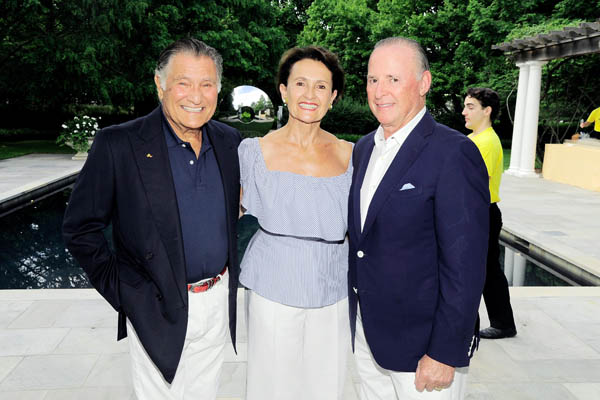 ?, Olga Neulist, Martin Gruss==Hope for Depression Research Foundation Founder & President Audrey Gruss Hosts Kick Off Party for Walk of Hope==Fairwind, Southampton, NY==July 16, 2016==©Patrick McMullan==Photo - Owen Hoffmann/PMC== == Olga Neulist; Martin Gruss