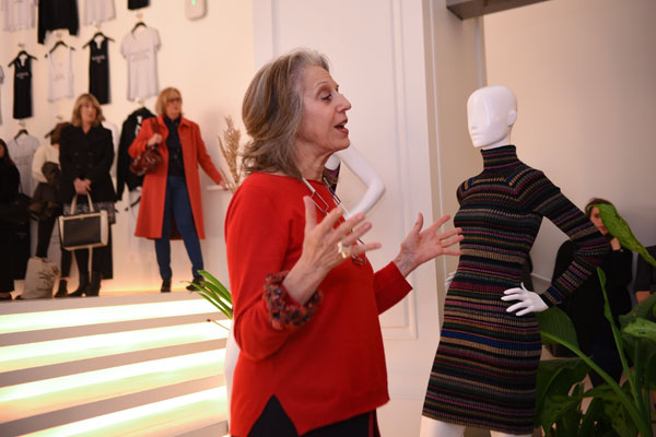 Publicolor Founder and President Ruth Shuman addressed guests at the Pop-Up Shop