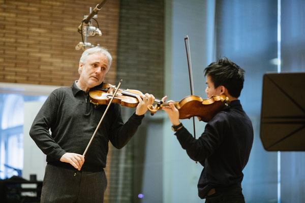 2.22.18 VPS Master Classes Rainer Honeck, William Yao at Carnegie Hall