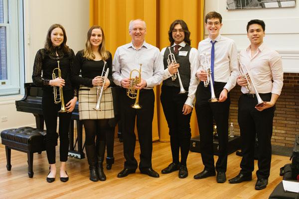 2.22.18 VPS Trumpet Master Class at Carnegie Hall Jamie Gorski, Maddi Lusby, Matt Gajda, James Vaughn, Shane O'Brien